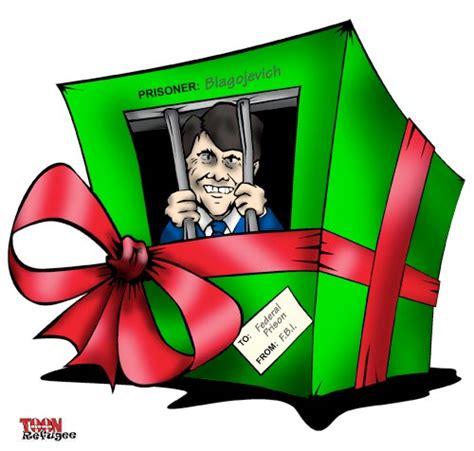 merry christmas illinois blagojevich wrapped toonrefugee cartoon blog