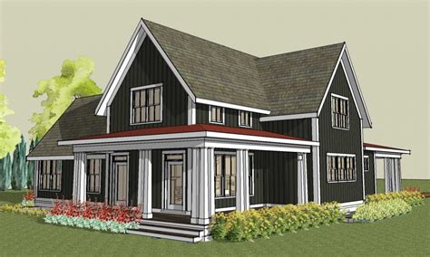 Farmhouse Plans With Porches by Large Gable Roof House Plan Farmhouse House Plans With