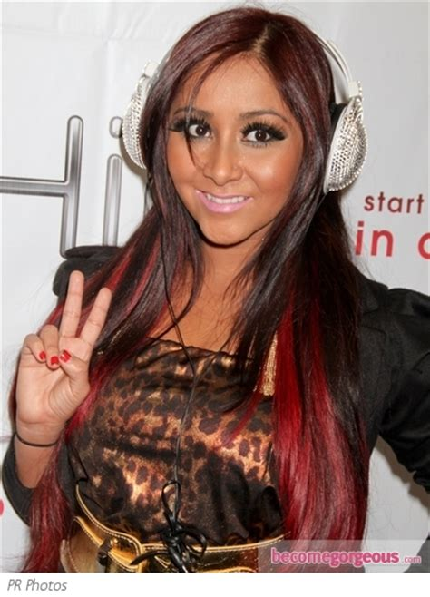snooki hairstyles gallery pictures snooki hairstyles snooki s hairstyle with red