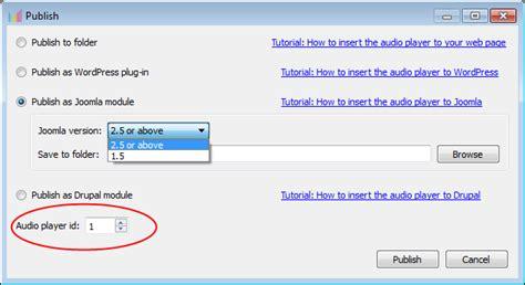 tutorial html5 wordpress tutorial joomla publish html5 audio player for your website