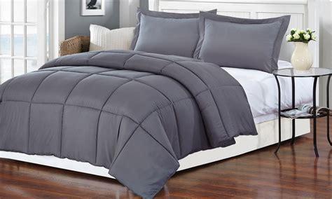 gray alternative down comforter gray medium warmth down alternative comforter groupon