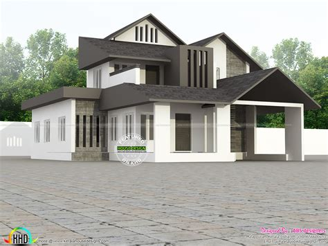 kerala home design 2000 sq ft contemporary modern 2000 sq ft home kerala home design and floor plans