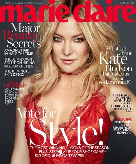 Hudson On The Cover Of Magazine by Kate Hudson On The October 2016 Cover Of Magazine