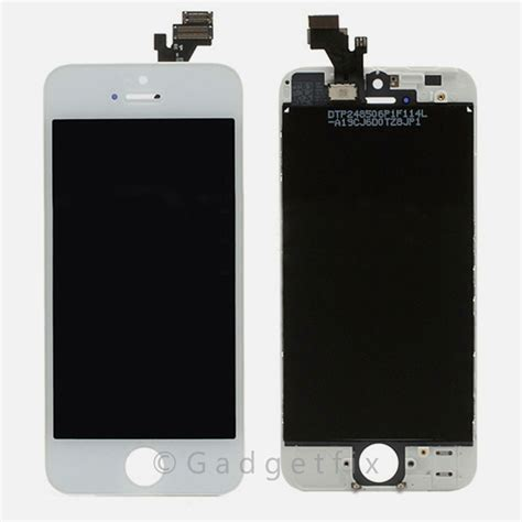 Lcd Iphone 5 Tanpa Touchscreen white lcd screen display touch screen digitizer frame