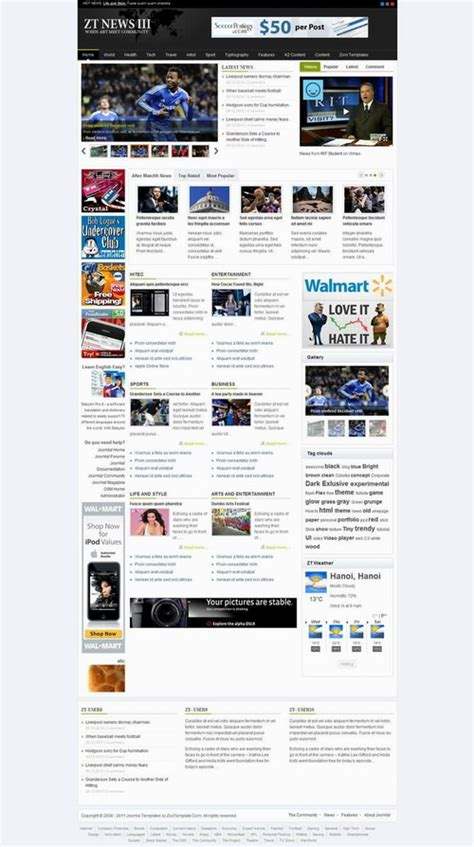 template toko online joomla news joomla templates zt news iii top joomla