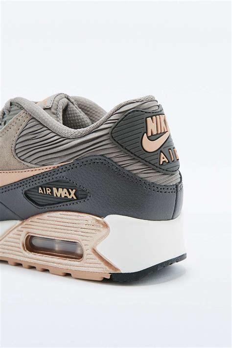 Air Max 90 Premium nike air max 90 premium grey and bronze leather trainers