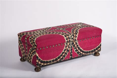 hot pink ottoman suzani covered ottoman in hot pink black and white