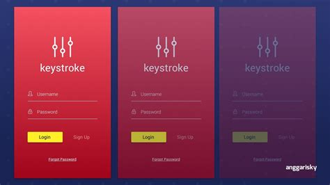 mobile ui designer login page mobile ui design tutorial
