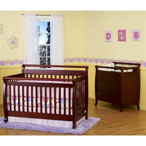 Cherry Crib Set by Davinci Emily 4 In 1 Convertible Crib Nursery Set With