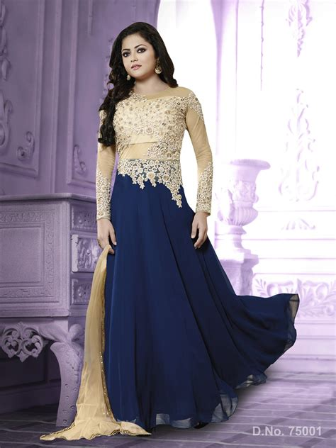 Indian Actress Drashti Dhami in New Style Anarkali Dresses : SuitAnarkali.in