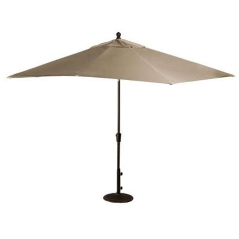 Patio Umbrellas Rectangular Blue Wave Caspian 8 Ft X 10 Ft Rectangular Market Patio Umbrella In Olefin Nu5448st