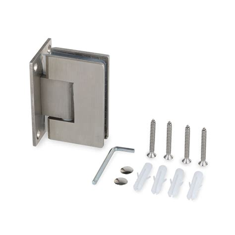 Frameless Shower Door Hinges Frameless Shower Door Hinge 90 176 Wall To Glass Stainless Steel Brushed Nickel 24 64 Picclick