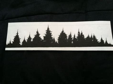 forest silhouette tattoo forest treeline idea armband cover up