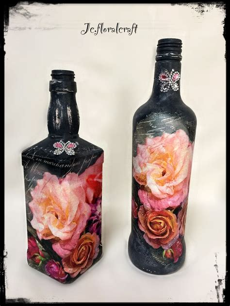 Decoupage Wine Bottles - 1000 images about ideje za teglice fla紂e i konzerve on
