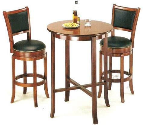 cherry pub table york cherry pub table set with 2 leather like chairback