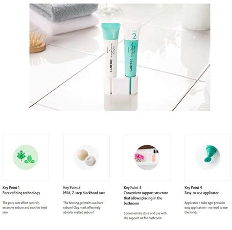 Laneige Mini Pore Heating Clean Duo Gel Clay Mask box korea laneige mini pore heating clean duo 15ml 2 best price and fast shipping