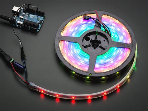 Adafruit Neopixel Digital Rgb Led Strip White 30 Led How To Set Up Led Light Strips