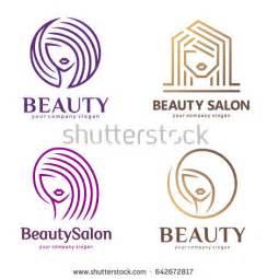 vector logo set beauty salon hair stock vector 642672817