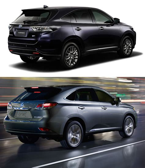 harrier lexus lexus rx vs toyota harrier