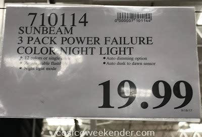 sunbeam power failure night light manual 3 pack sunbeam led night light go4carz com