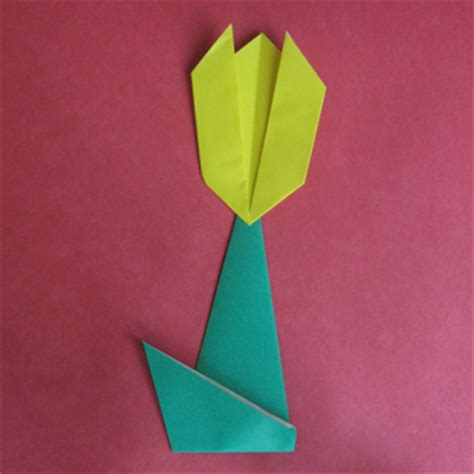 Easy Tulip Origami - tulip flower origami 2 how to origami another tulip flower