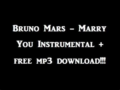 Bruno Mars Karaoke Mp3 Download | bruno mars marry you instrumental free mp3 download