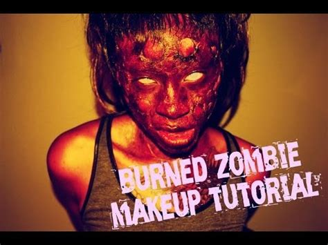 zombie tutorial youtube cheap easy burned zombie makeup tutorial youtube