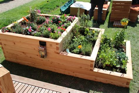 raised planting beds raised bed garden in a pallet crate