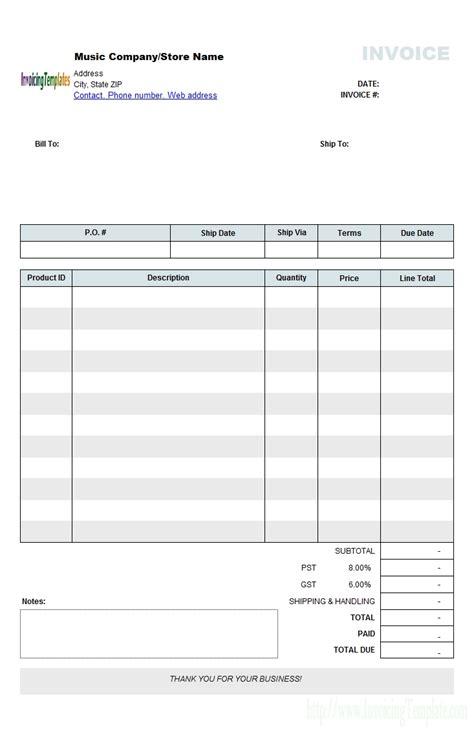 band invoice template musician invoice template invoice template ideas