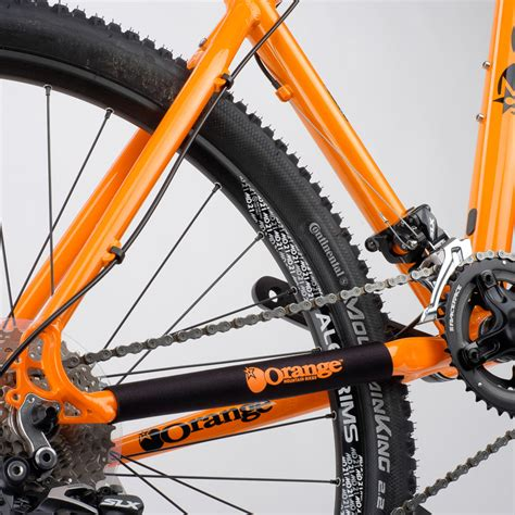 Chain Protector hardtail chainstay protector orange mountain bikes
