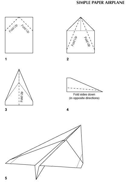 simple paper plane template why winglets