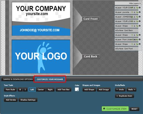 business card template that lets me add logo customizable business card clipart for powerpoint