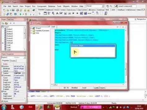 tutorial zeos delphi 7 contoh database mysql rumah sakit cara ku mu