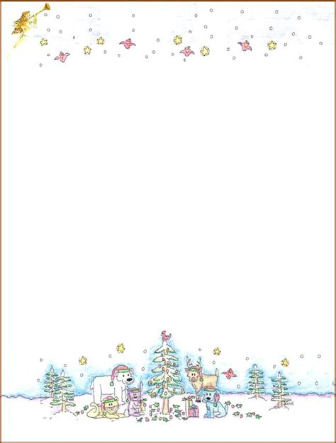 Christmas Stationery For Word Free Templates Microsoft Printable Games Narrafy Design Free Stationery Templates For Microsoft Word