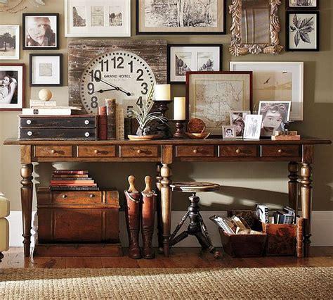 Leather Sofa Pottery Barn The Image Of Elegance Tivoli Console Table