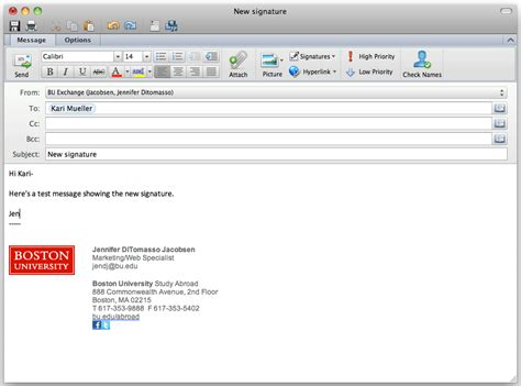 Free Email Signature Templates For Outlook Template Business Outlook Templates Mac