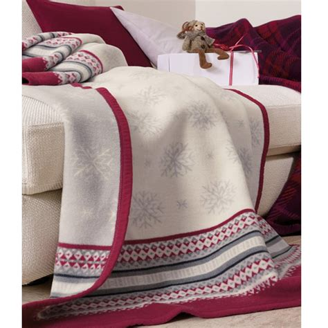 Wolldecken Mit ärmel by Biederlackborbo Bocasa Homestory Decke Let It Snow 150x200