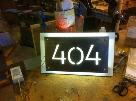 led lighted address signs led house numbers canada house plan 2017