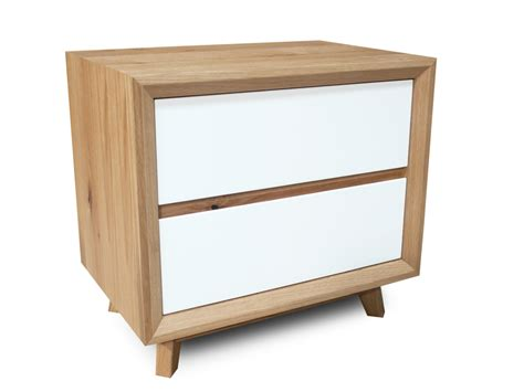 White And Oak Bedside Table Felix Scandinavian White Gloss W Oak Bedside Table