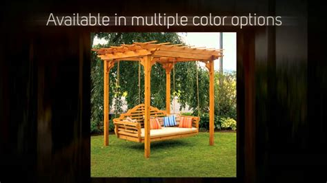cedar pergola swing bed extraordinary pergola swing stand plans garden landscape