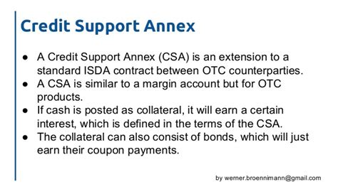 Template Credit Support Annex Cross Currency Swaps An Introduction