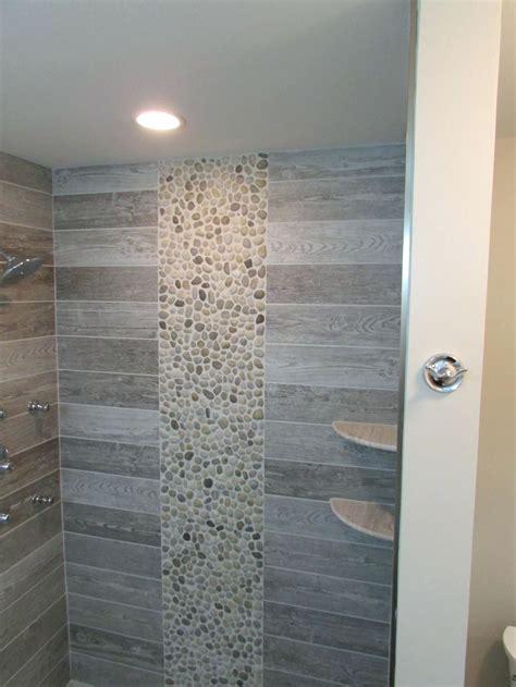bathroom : Elegant Wood Look Tile Bathroom Design Ideas