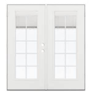 Home Depot French Doors Exterior Outswing - shop reliabilt 71 5 in blinds between the glass fiberglass french outswing patio door at lowes com