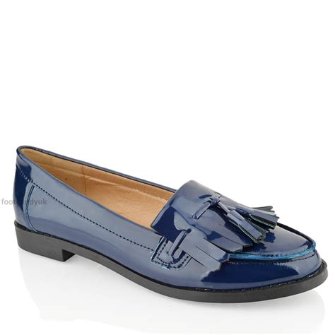 loafers womens womens flat casual office patent faux leather