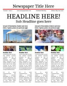 newspaper template free newsletter templates print and digital