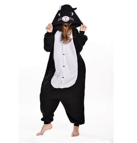 Pajamas Cat Black Pp 2016 winter black cat homewear pajamas soft costume onesies pajamas family onesie