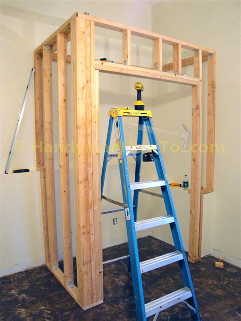 Closet Door Frame How To Build A Basement Closet Part 4