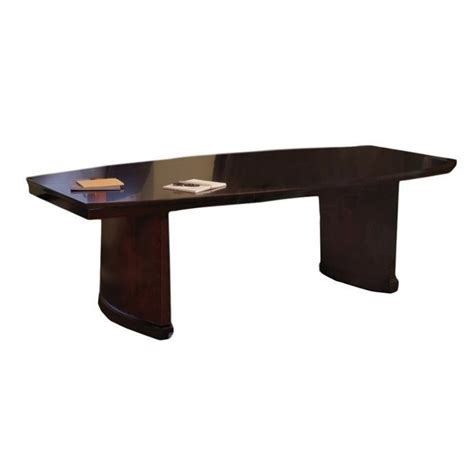 Mayline Conference Table Mayline Sorrento Boat Shaped Conference Table In Espresso Scxesp
