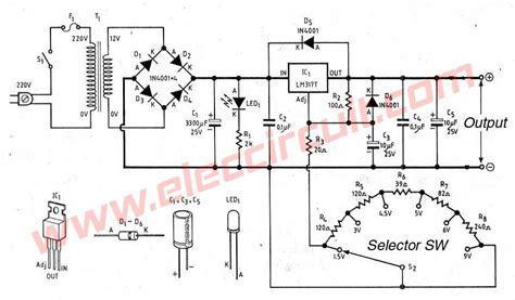 alimentatore lm317 lm317 voltage selector power supply 1 5v 3v 4 5v 5v 6v 9v