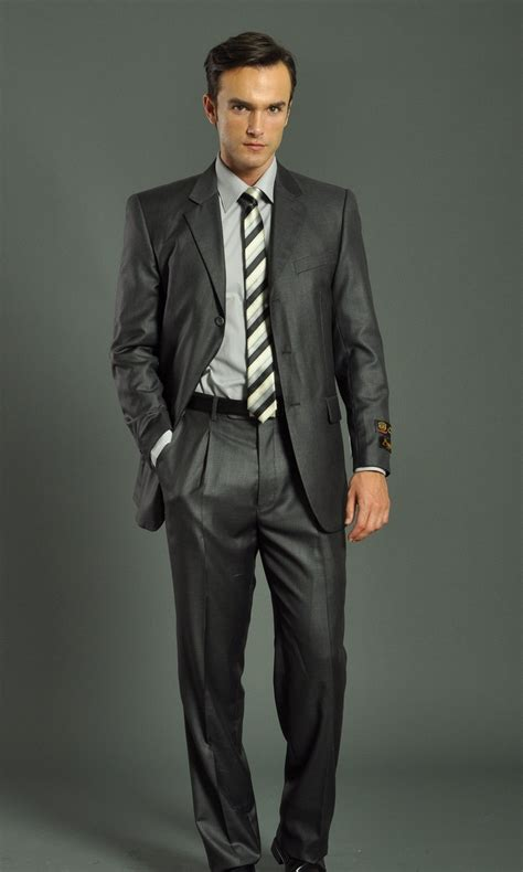 men s men s three button solid charcoal suit men s suits